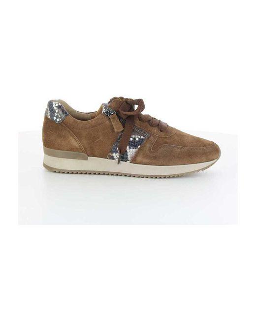 Gabor Low Top Sneakers in het Brown