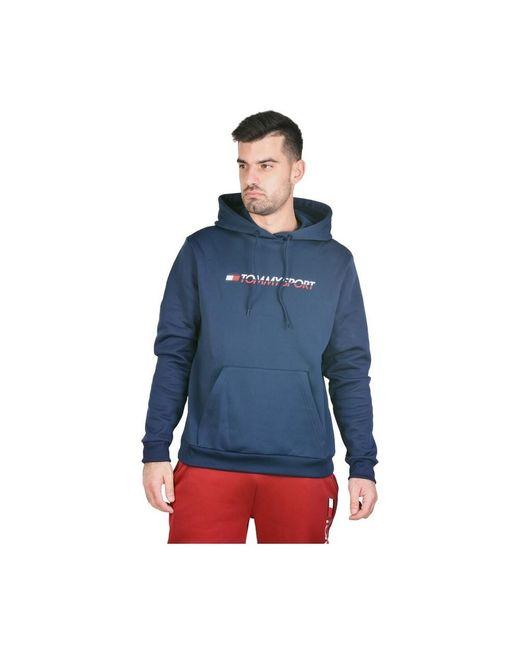 Tommy Hilfiger Fleece Sweater in het Blue voor heren