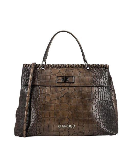 Ermanno Scervino Large Iona Handbag in het Brown