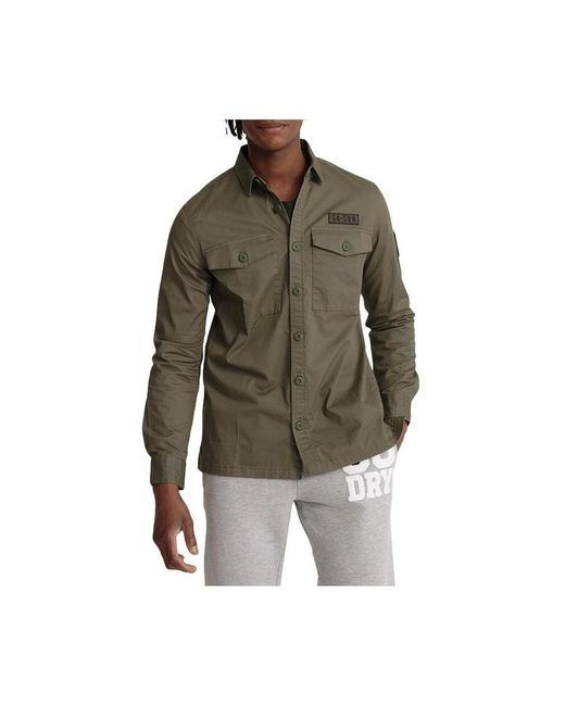 Superdry Camisa Core Military Patched in het Green
