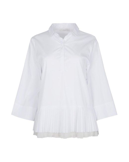 Fabiana Filippi Camisa Blouse in het White
