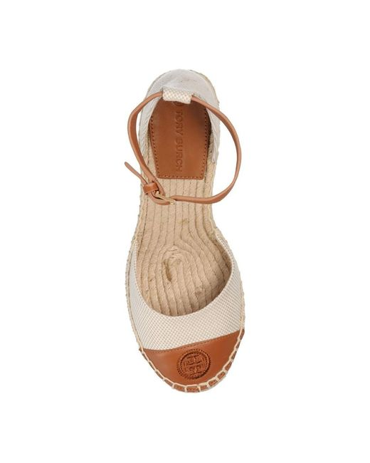 Wedge sandals Tory Burch en coloris Natural