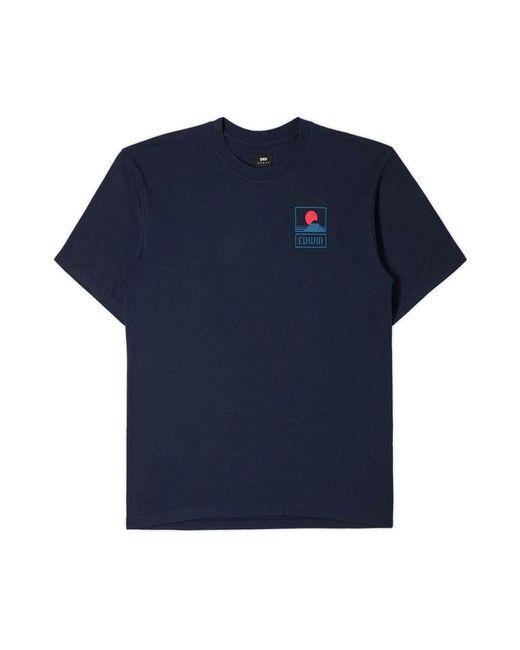 Edwin Mont Fuji T-Shirt in Blue für Herren
