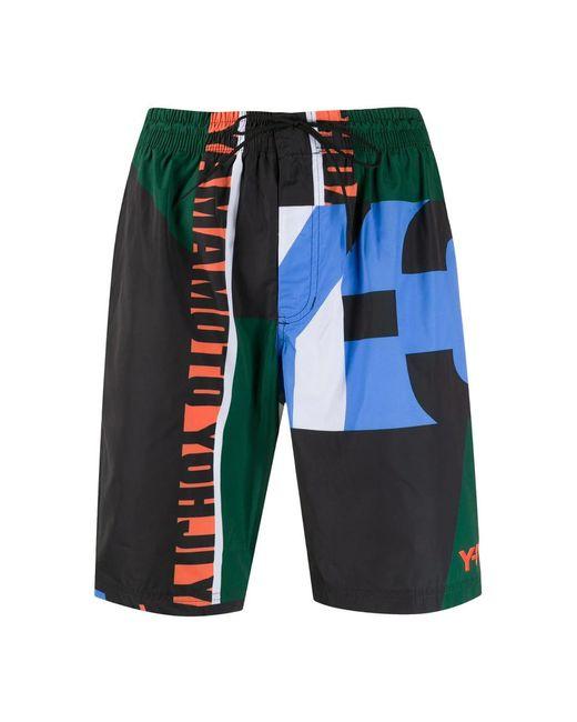 Y-3 Swim Shorts Colorblock in het Black voor heren