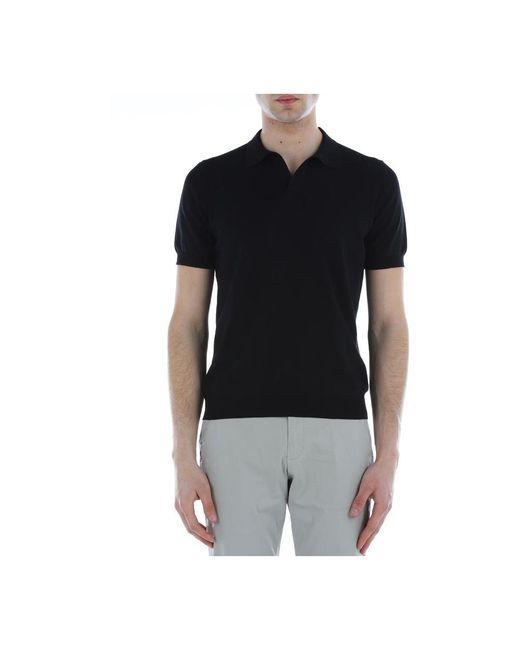 Polo Mezza Manica di Tagliatore in Black