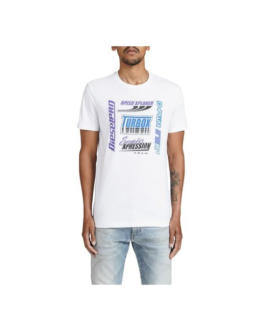 Camiseta di DIESEL in White da Uomo