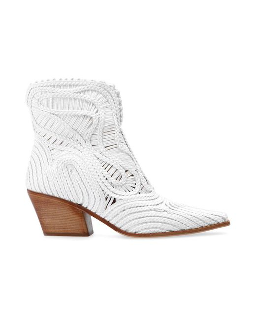 Le Silla White Charlize heeled ankle boots