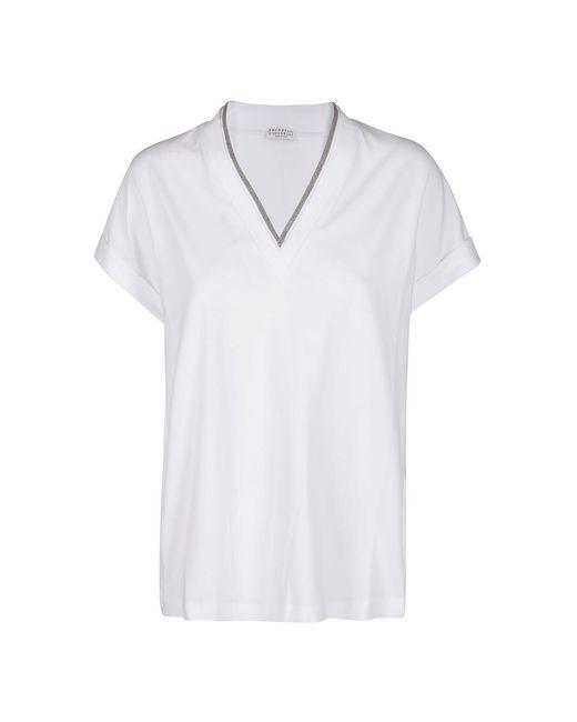Brunello Cucinelli T-shirt in het White