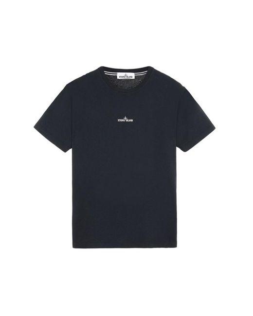Stone Island 2ns85 T-shirt Met Korte Mouwen 'marble Three' in het Blue voor heren