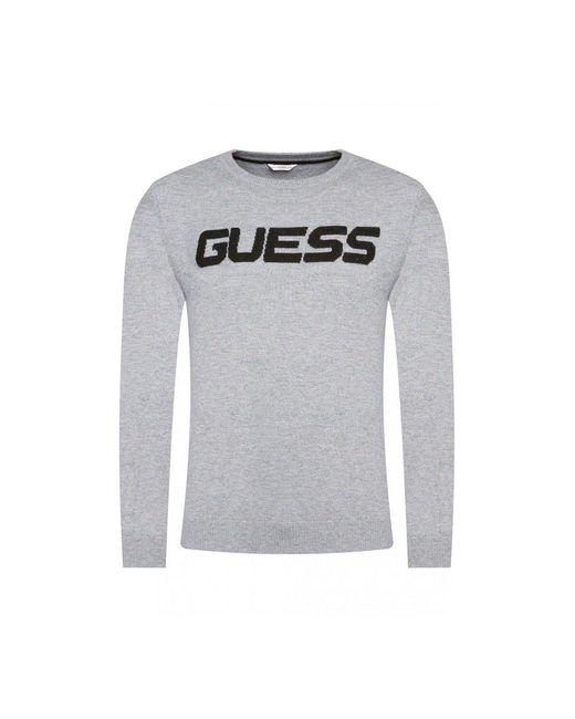 Guess Pull Laine À Gros Logo in het Gray voor heren