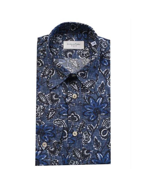 Tintoria Mattei 954 Overhemd in het Blue voor heren