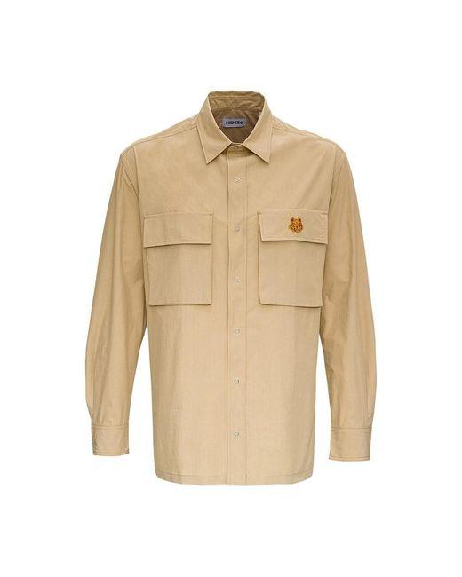 KENZO Tiger Shirt in het Natural voor heren