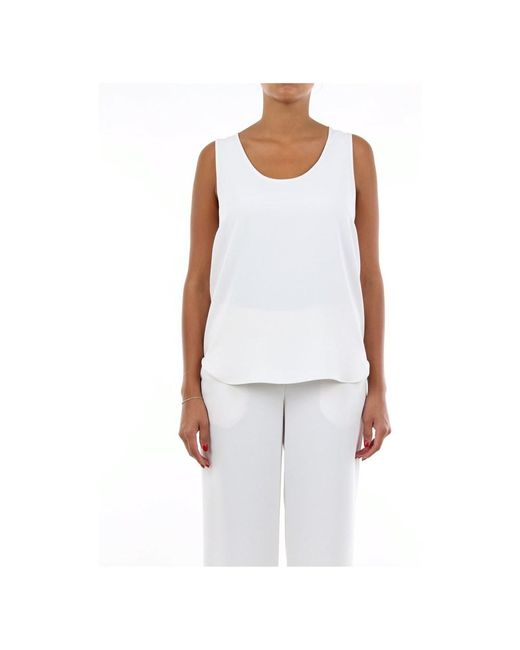 P.A.R.O.S.H. Pantersd310270x Sleeveless Top in het White