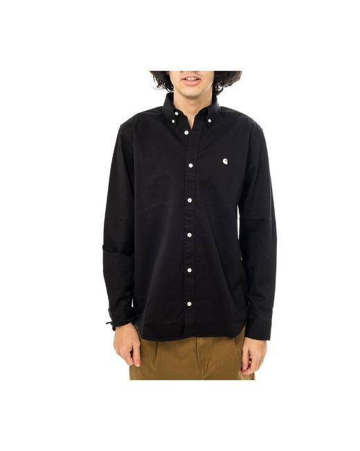 Carhartt WIP Camicia Uomo Madison Shirt I023339.89 in het Black voor heren