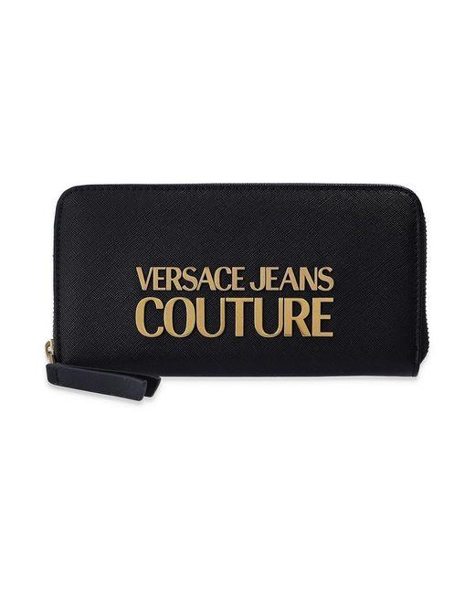 Portefeuille avec logo Versace Jeans en coloris Black
