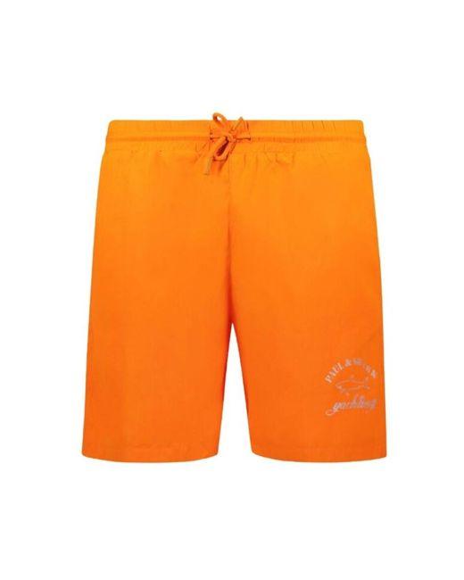 Paul & Shark Swimming Trunks in het Orange voor heren