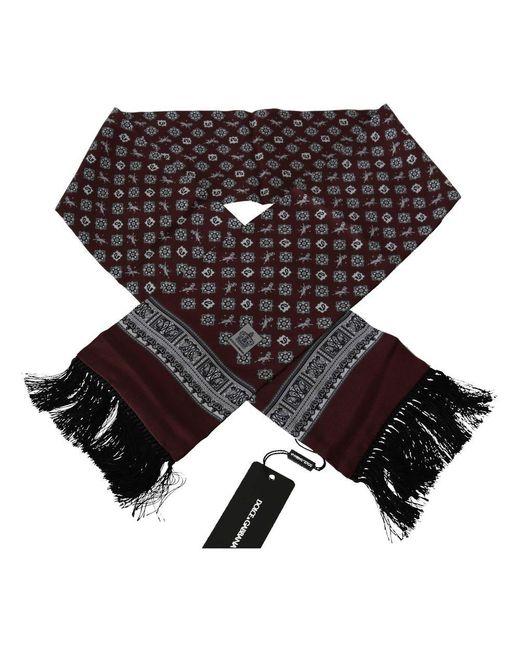 Dolce & Gabbana Bloemenprint Tassel Sjaal in het Red voor heren