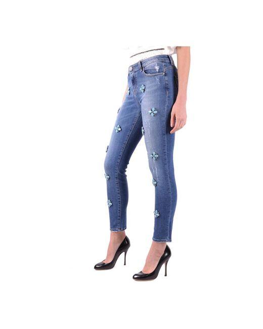 Pantalones Azul Pinko de color Blue