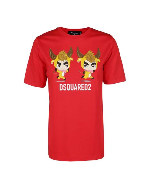 DSquared² T-shirt With Logo in het Red