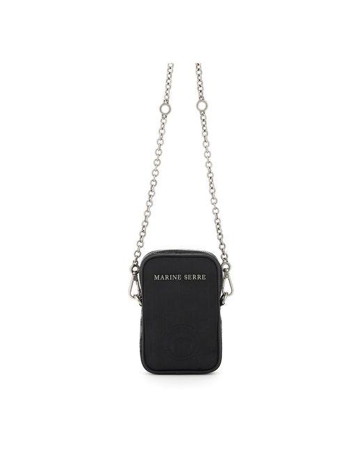 MARINE SERRE One Pocket Phone Case Bag in het Black