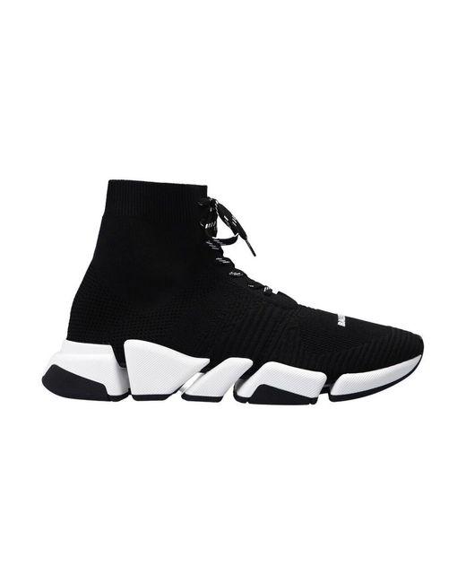Balenciaga Speed 2.0 Lace Up Sneakers in het Black voor heren