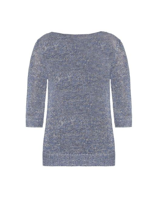 Etro Sweater With Cut-out Back in het Gray