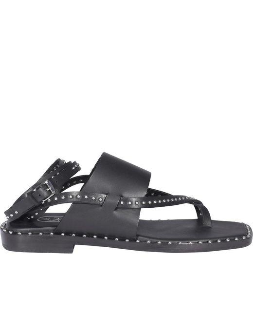 Des sandales Saint Laurent en coloris Black