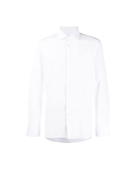 Ermenegildo Zegna Camicia in het White voor heren