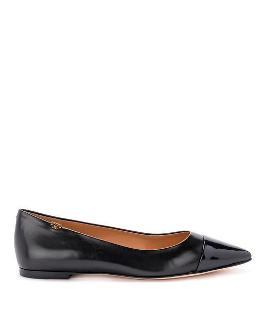 Tory Burch Penelope Nappa Flat Shoes in het Black