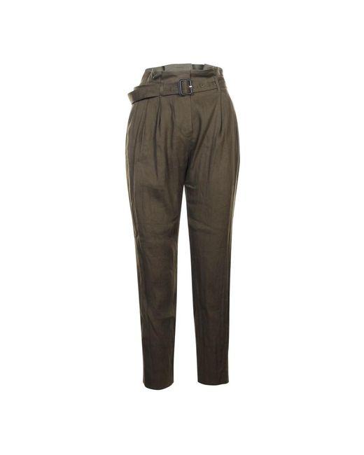 Burberry Linen Trousers in het Green