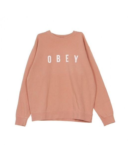 Obey Anyway Crewneck Sweatshirt in Pink für Herren