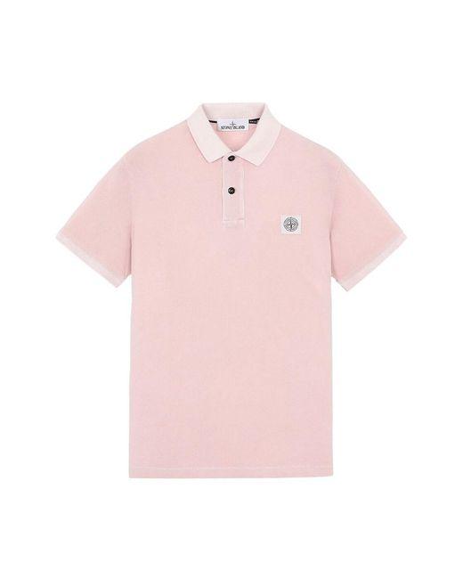 Stone Island Polo in het Pink voor heren