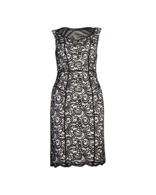 Lace Dress Vera Wang en coloris Black