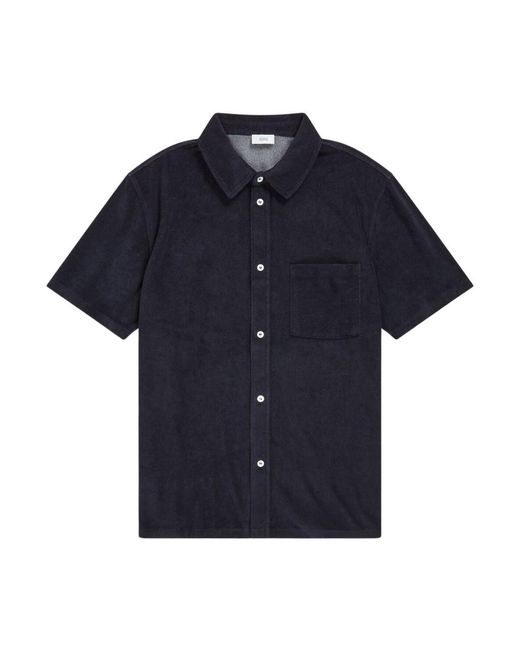 Closed Shirt in het Blue voor heren
