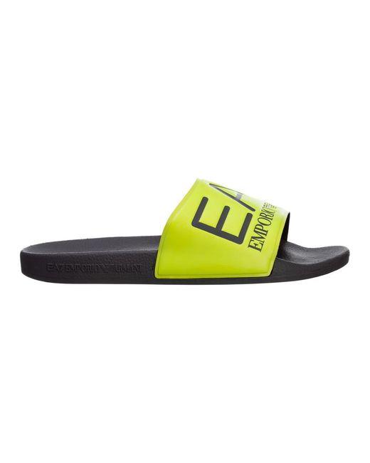 EA7 Slippers in het Yellow voor heren
