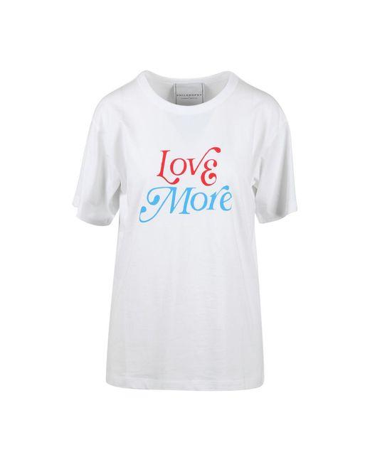 Philosophy Di Lorenzo Serafini T-shirt in het White
