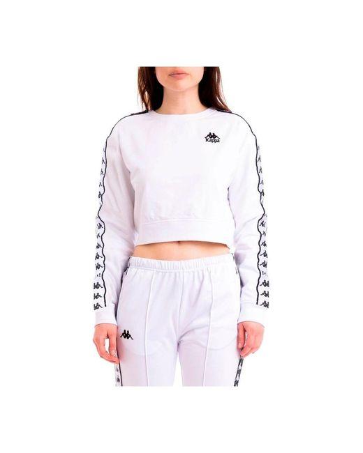 Kappa Sweatshirt in het White