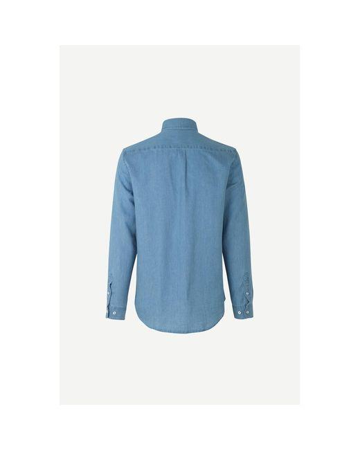 Camisa Liam BA 11379 Azul Samsøe & Samsøe de hombre de color Blue