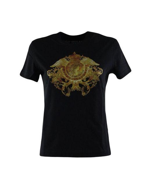 Versace Jeans T-shirt Con Stampa in het Black