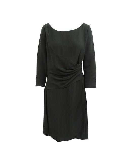 Prada 3/4 Sleeve Elegant Dress in het Black