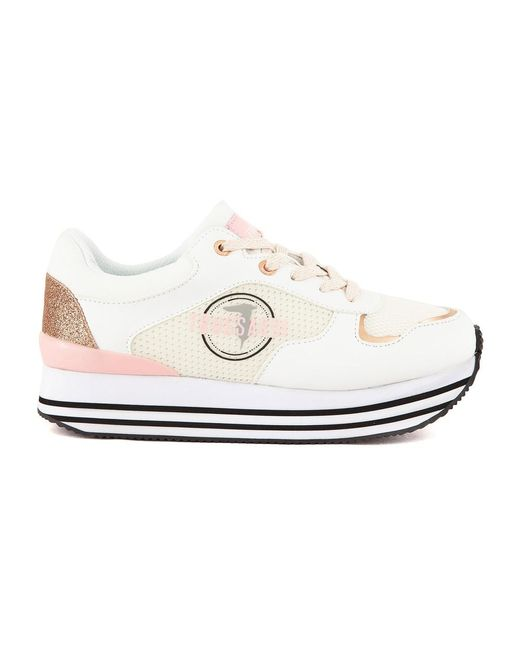 Running Sneakers di Moschino in White