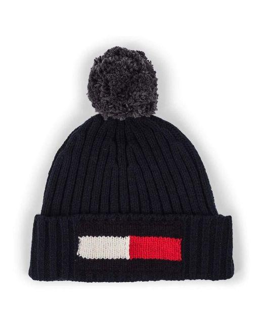 Flag Beanie Tommy Hilfiger pour homme en coloris Black