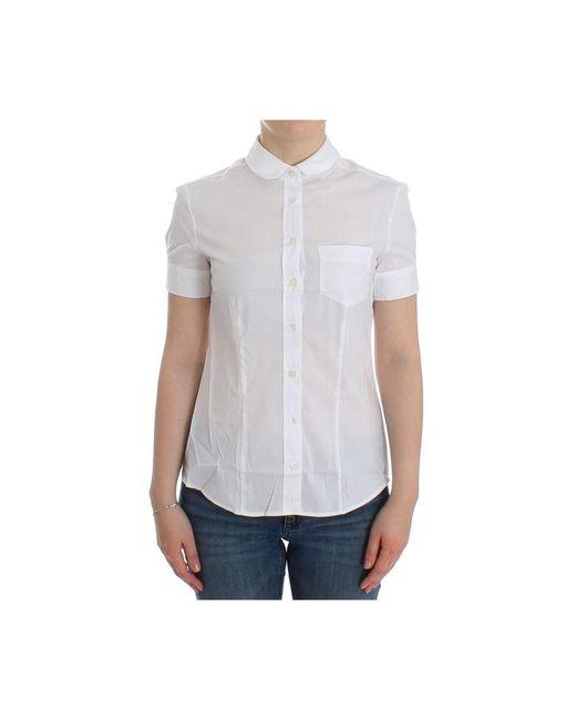 John Galliano Shirt Top in het White