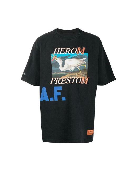 Heron Preston T-shirt in het Black voor heren