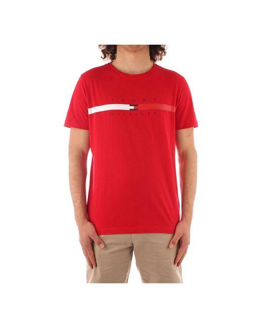 Mw0Mw16572 Short sleeve t-shirt Tommy Hilfiger pour homme en coloris Red