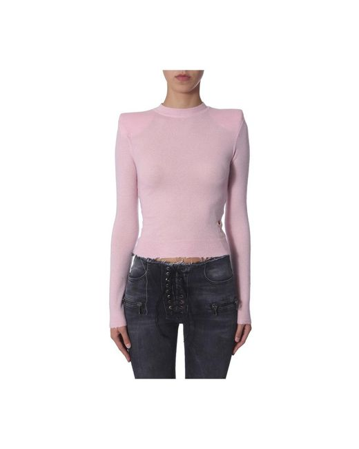 Unravel Project Turtle Neck Sweater in het Pink