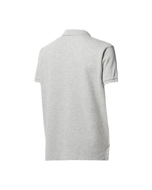 Polo Shirt S/S Knit Gris Polo Ralph Lauren de hombre de color Gray