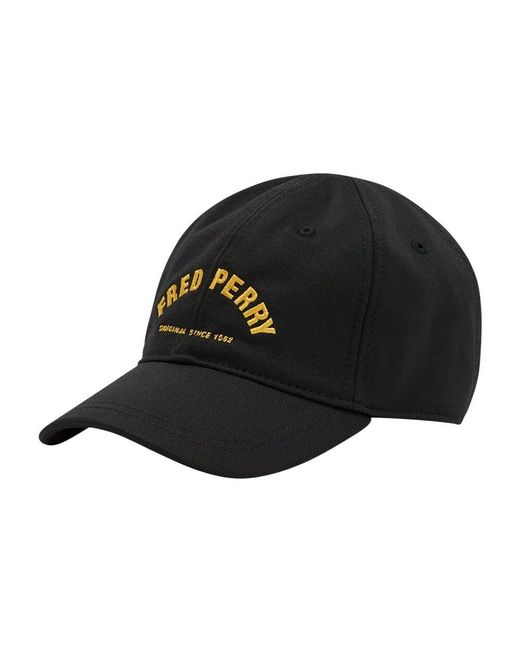 Fred Perry Arch Branded Tricot Cap Black-gorras voor heren