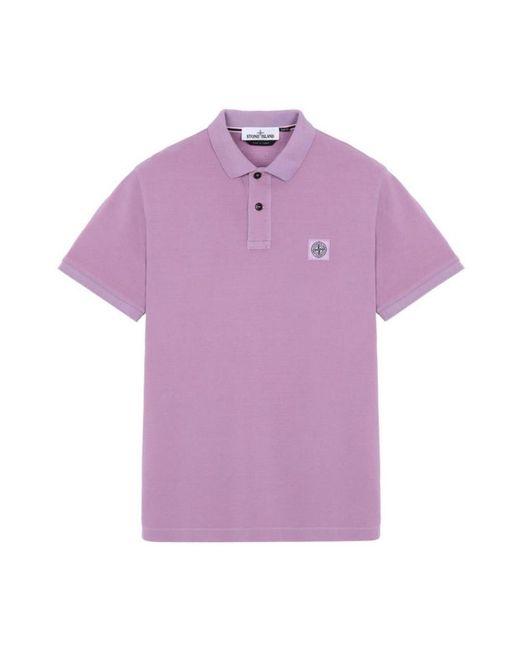 Polo di Stone Island in Pink da Uomo