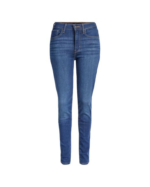 Levi's 721 High Rise Skinny Bogota Voelt Drops in het Blue